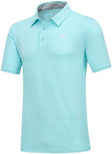 JINSHI Men's Athletic Loose Performance Fit Short Sleeve Classic Golf Polo Shirt 3 Fashion Online Shop gifts for her gifts for him womens full figure