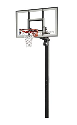 Spalding In-Ground Basketball System with Glass Backboard, 60 x...