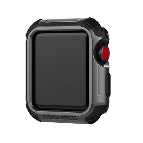 for Apple Watch Case 38mm/42mm,Waterproof Shock Proof Screen Protector Soft Silicone TPU Rugged Protective Bumper Cover for Series 3 2 1 (Space Gray, iWatch 42mm)
