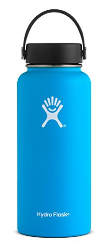 Hydro Flask W32TS415 Mouth 32 oz. Wide Water Bottle, 946 ml, Pacific
