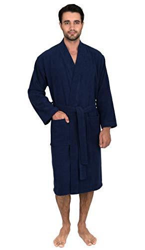 TowelSelections Men's Robe, Turkish Cotton Terry Kimono Bathrobe X-Large/XX-Large Patriot Blue