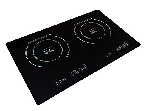 True Induction TI-2B Counter Inset Double Burner Induction Cooktop, 120V, Black