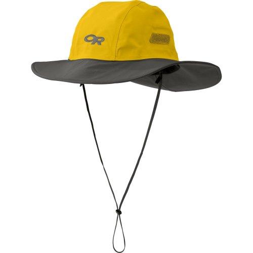 Outdoor Research Seattle Sombrero Rain Hat, Yellow/Dark Grey, Medium