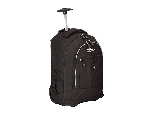 High Sierra Chaser Wheeled Laptop Backpack, Black