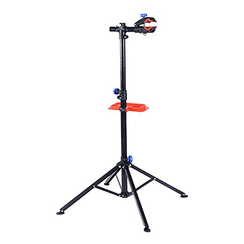 "Safstar Pro Mechanic Bike Repair Stand Adjustable 41"" To 75"" Cycle Rack Bicycle Workstand with Tool Tray"