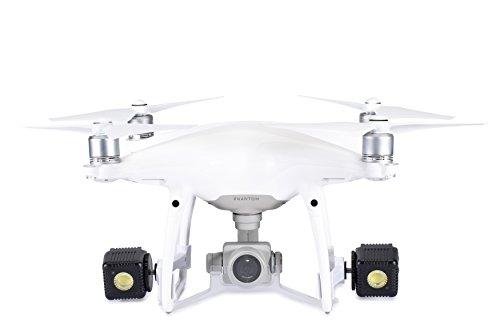 Lume Cube – Lighting Kit for DJI Phantom 4 Pro/Advanced Drone (White) (Includes 2 Lume Cubes + 2 Mounts + Zipper Case)