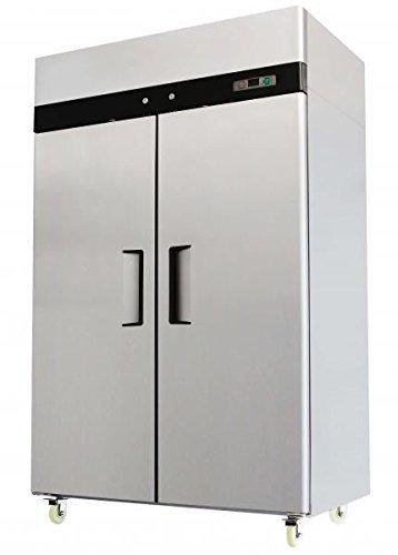2 door stainless steel reach in commercial freezer