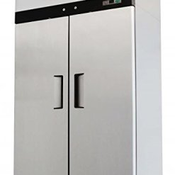 2 door stainless steel reach in commercial freezer