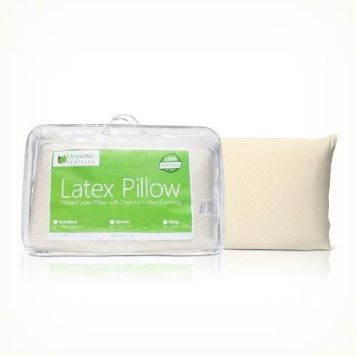 Organic Textiles All Natural Premium Latex Pillow (Editor's Choice)