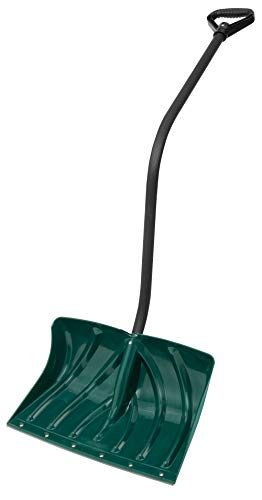Suncast SC3250 18-Inch Snow Shovel/Pusher Combo with Ergonomic Shaped Handle And Wear Strip, Green