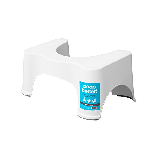 Squatty Potty The Original Bathroom Toilet Stool, 9 inch Height, White