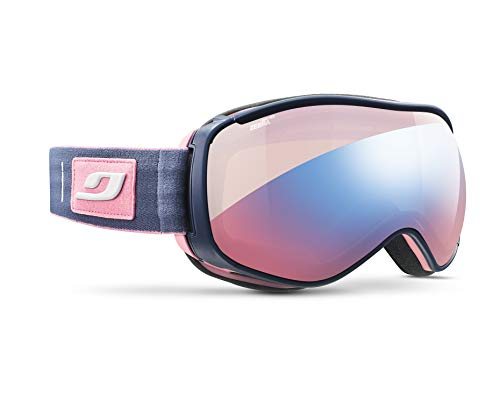 Julbo Starwind Photochromic Womens Snow Goggles with Ultra Venting Superflow Technology No Fogging - Zebra Light Red - Pink/Blue