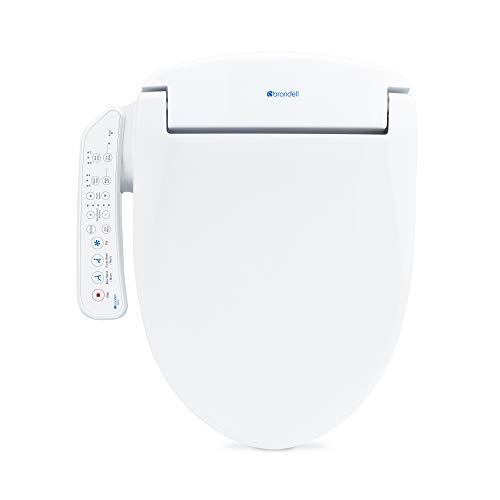 Brondell Swash SE400 Elongated Bidet Seat with Air Dryer and Stainless-Steel Nozzle   Nightlight   Nozzle Oscillation  