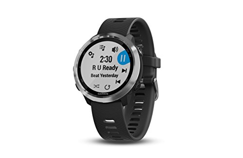 Garmin Forerunner 645 Music, GPS running watch with Garmin Pay contactless payments, wrist-based heart rate and music, Black band, 010-01863-20