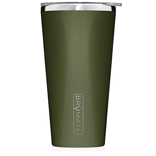 Brumate-Imperial-Pint-20oz-Shatterproof-Double-Wall-Vacuum-Insulated-Stainless-Steel-Travel-Camping-Mug-for-Beer-Cocktails-Coffee-Tea-with-Splash-Proof-Lid-for-Men-Women-OD-Green