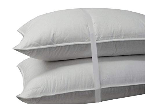 Royal Hotel's Down Pillow - 500 Thread Count Cotton Shell, Standard / Queen Size, Firm, 1 Single Pillow