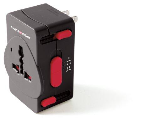 Swiss Gear Luggage Worldwide Adaptor Plug, Black