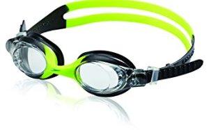 Speedo Kids' Skoogles Swim Goggle, Black/Green, One Size