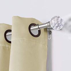 Decorative Crystal Ball Curtain Rod