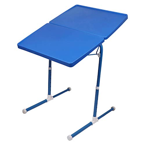 MULTI - TABLE Dual Side Multi Purpose Adjustable Foldable Utility Table for Laptop, Study, Kids, Office, Meal (Blue) 6