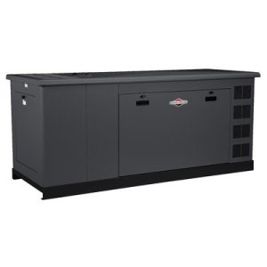 Briggs & Stratton 76140 35kW 240V Standby Generator with Steel Enclosure and Controller, Gray