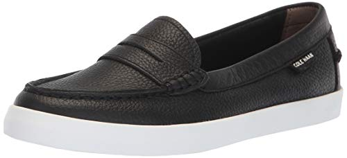 Cole Haan Women's Nantucket Loafer, Black Leather, 8 B US