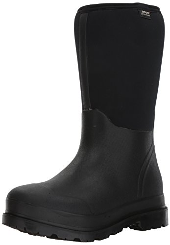 Bogs Men's Stockman Waterproof Insulated Standard Toe Work Rain Boots, Black, 10 D(M) US