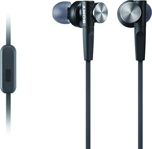 Sony-MDRXB50AP-Extra-Bass-Earbud-HeadphonesHeadset-with-mic-for-phone-call-Black