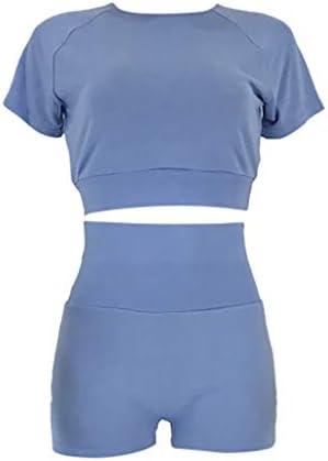 2020 Fashion Womens Sexy Solid Yoga Vest Sports Fitness Set Elastic Tops+Pants 4