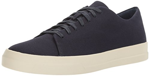 31mSSdH9UeL Minimalist modern sneaker with monochrome canvas upper on white rubber sole Double-padded footbed