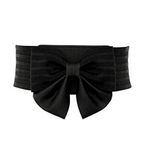 YALEMEI Women Cute Bow Wide Elastic Waist Belt – Adorable Dress Accessory
