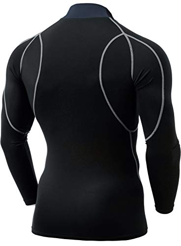 TSLA Men's Mock Long-Sleeved T-Shirt Cool Dry Compression Baselayer Top 15 Fashion Online Shop gifts for her gifts for him womens full figure