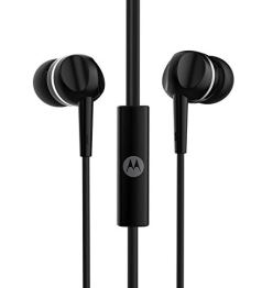 Motorola Pace 100 in-Ear Headphones with Mic & Alexa Built-in(Black)