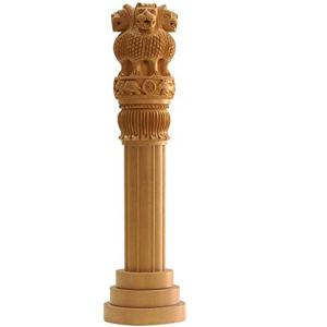 Wooden Ashoka Pillar – Indian National Emblem