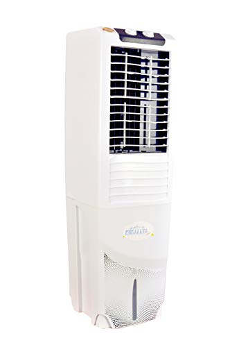 31mvSAikLsL - Himalaya Coolers Personal Room Air Cooler with Silent Fan and Honeycomb Pads (40 L Capacity, White)