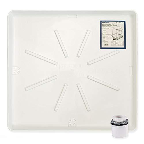 Eastman 52525 Washing Machine Drain Pan, 30-inch x 32-inch, White