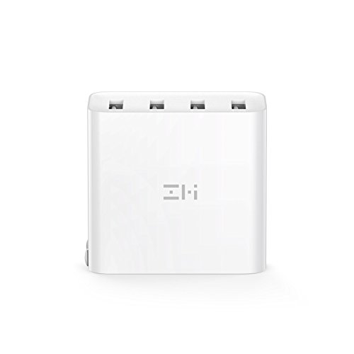 ZMI PowerPlug 4-Port 35W USB Wall Charger Power Adapter, Portable with Foldable Prongs for iPhone, iPad, Samsung Galaxy, and More