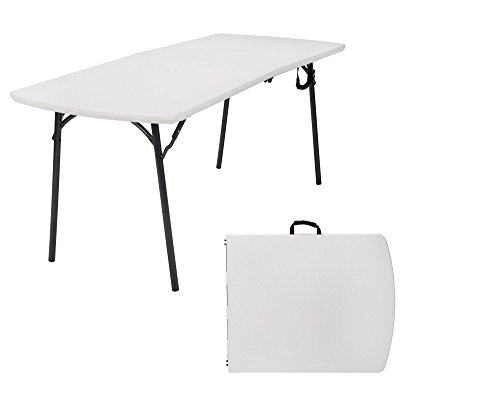 COSCO Diamond Series Banquet Folding Table, 6 x 30, White