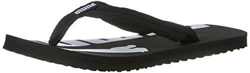 PUMA Men's Epic flip v2 Athletic Sandal, Black/White, 10 M US