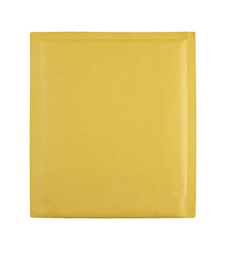 Quality Park Bubble Mailer w/Mailing Labels, Redi-Strip, Brown Kraft, 7.5 x 9, 10 per Box, (85655)