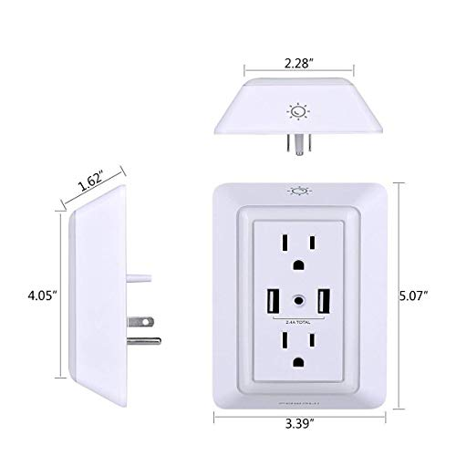 Smart-Plug-USB-Wall-Charger-POWRUI-Surge-Protector-with-2-Smart-outlets-and-2-USB-Ports-and-Smart-Night-Light-Works-Amazon-AlexaGoogle-HomeIFTTT-Remote-Control-your-home-appliances-from-Anywhere
