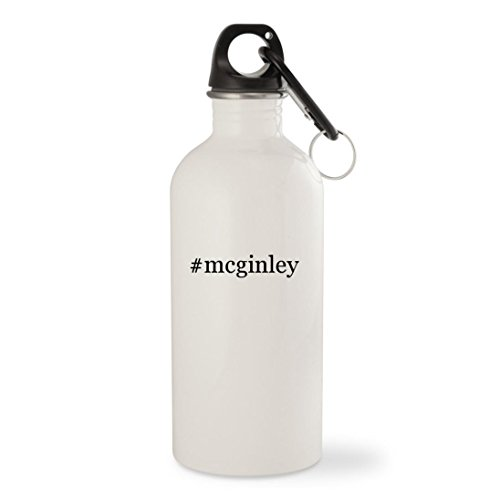 #mcginley - White Hashtag 20oz Stainless Steel Water Bottle with Carabiner