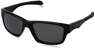 Oakley Men's Jupiter Non-Polarized Square Sunglasses,Polished Black Frame/Warm Grey Lens,One Size