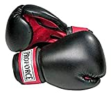 Pro Force Leatherette Boxing Gloves - Black with Red Palm - Black - 10 oz.