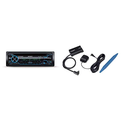 Sony MEX-XB120BT Single DIN Hi-Power Bluetooth In-Dash CD/AM/FM/SiriusXM Ready Car Stereo with 180W RMS (CEA Rated Power) built-in 4-channel 45W x 4 Amplifier