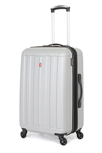 """SwissGear Silver Hardside Luggage Collection 24"""" Spinner"""