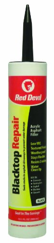 Red Devil 0637 10.1-Ounce Blacktop Driveway Repair Caulk, Black
