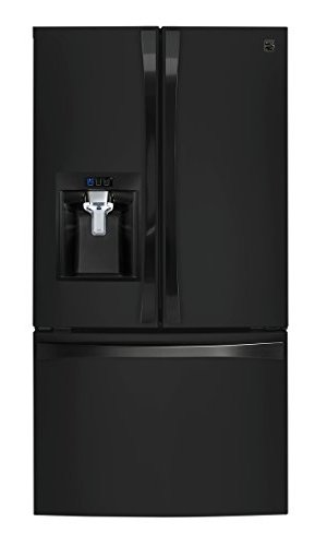 Kenmore 4675049  Smart 24 cu. ft. Counter Depth French Door Bottom Freezer Refrigerator in Black - Works with Amazon Alexa, includes delivery and hookup (Available in select cities only)