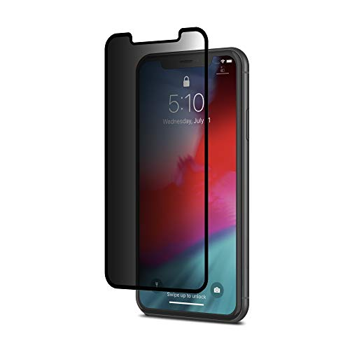 Moshi Ionglass Privacy Glass Screen Protector Compatible with iPhone 11/iPhone XR, Atomically-Strengthened, Stronger Than Tempered Glass, Exceptionally Thin