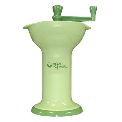 green sprouts Fresh Baby Food Mill | Easily purees food for baby | Seperates seeds & skins from puree, Compact size, No batteries or electricity needed, Dishwasher safe